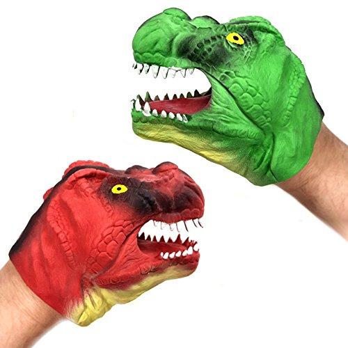 Blue Frog Toys Marioneta de mano de dinosaurio, varios colores