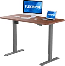 FlexiSpot EN1S-R5528N Electric Height Adjustable Desk, 55 x 28 Inches, Home Office Sit..