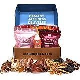 MAIKAI - Chuches para Perros Naturales I 7 Bolsas + 1 Aceite de salmón para Perros y Gatos 250ml I Premios para Perros I Premium I Regalo cumpleaños Perro
