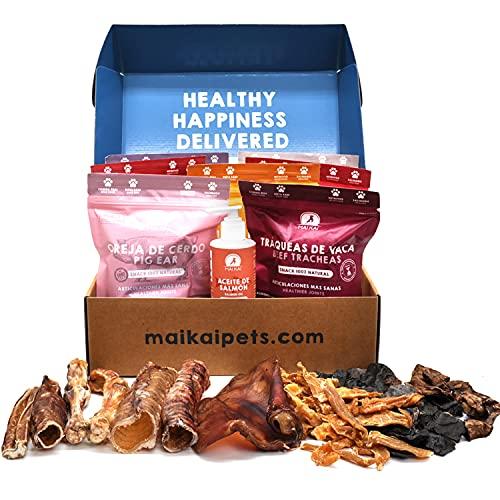 MAIKAI - Chuches para Perros Naturales I 7 Bolsas + 1 Aceite...