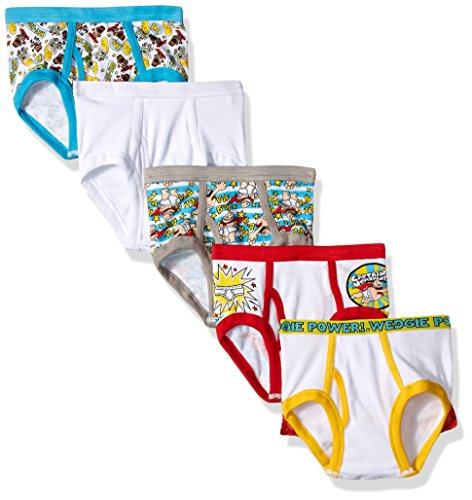 DreamWorks Little 5 Pack Boys Brief, Captain Underpants Multi, 6