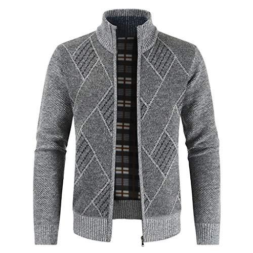 Feytuo Kurzmantel Herren Regular Fit Winter Angebote Mantel Warmer Strickjacke Outdoor Sweatshirt Pullover Mantel Elegant