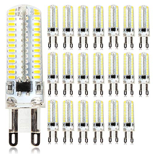 La lámpara de enchufe G9, que es adecuada para la instalación en el zócalo G9 y para otros fines de iluminación, puede ser decorada o iluminada. (20 unidades) Bombilla LED G9, 5 W, 220 V CA.