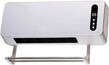 Montado En La Pared Pequeña Estufa, Calentador De Escritorio Del Acondicionador De Aire Del Ventilador De Baño Blanco Caliente Con Secado Panel De Control Remoto, Elemento De Calefacción PTC