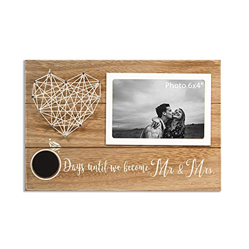 VILIGHT Engagement Picture Frames for Couples - Future Mr & Mrs Gifts for Wedding Day Countdown - 6x4 Photo