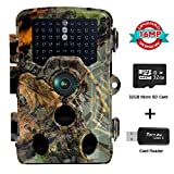 Owsen Trail Game Camera 16MP 1080P Waterproof Scouting Hunting Camera with 120°Detecting Range 0.2s Motion Activated Night Vision 2.4' LCD IR LEDs 32GB Card for Wildlife Monitoring