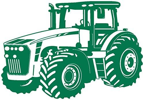 Samunshi® Wandtattoo Trecker Traktor in 8 Größen und 20 Farben (75x53cm grün)