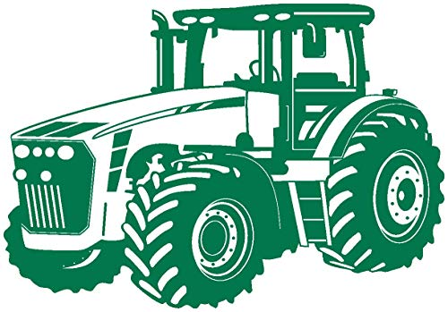 Samunshi® Wandtattoo Trecker Traktor in 8 Größen und 20 Farben (30x21cm grün)