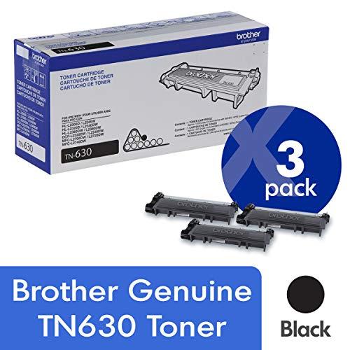 Brother TN630 - Cartuchos de tóner para impresora (3 unidades, 1200 páginas), color negro