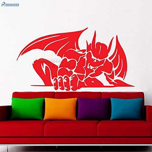 WALSITK Decoración para el hogar Sala de Estar Demonio Dragón Etiqueta de La Pared Vinilo Arte Calcomanías Alas Decoración Niños Niños Dormitorio Mural 78x42 cm