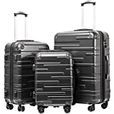 Coolife Luggage Expandable Suitcase 3 Piece Set with TSA Lock Spinner...