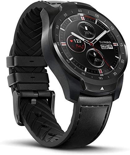 Ticwatch Pro Smartwatch Bluetooth, Mehrschichtiges Display, Herzfrequenz und NFC-Zahlungen basierend auf Google...