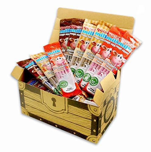 フェルフォルディ クイックミルク 36入((チョコレート、ストロベリー、キャラメル)× 各種12入) 宝箱付 ミックス 業務用 大容量 ギフト こどもの日 イベント