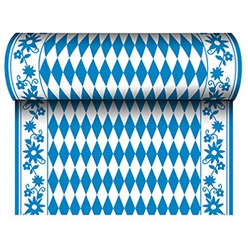 PAPSTAR Tischläufer Bayrisch Blau (B) 400 mm x (L) 24 m aus Airlaid, 65 gqm, stoffähnlich, hohe Saugfähigkeit, 1 Stück (84495)