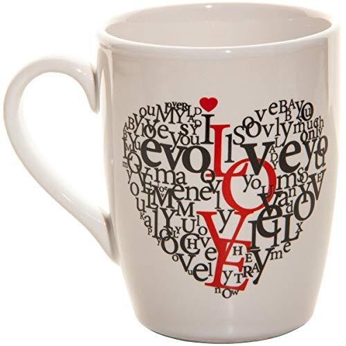 Spruchreif PREMIUM QUALITÄT 100% EMOTIONAL Taza de café con Texto I Love You en alemán I Love You, Taza de Regalo con Texto en alemán