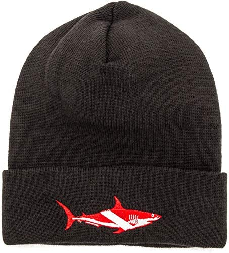 Trident Knit Beanies with Embroidered Dive Designs