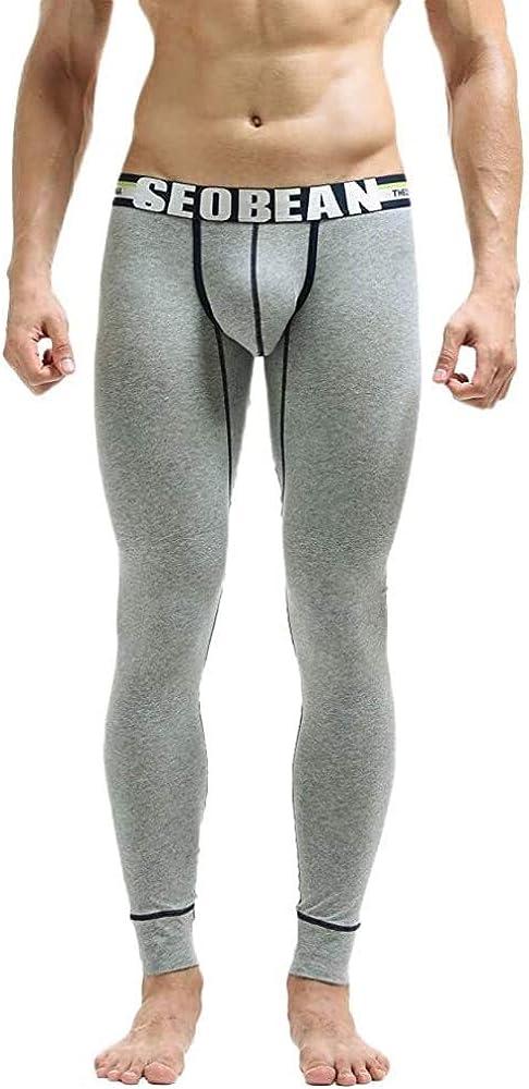 Herren Winter Jogginghosen Baumwolle Lange Festlich Stretch Hosen Bekleidung Atmungsaktiv Sport Leggings Thermo Unterw/äsche Bulge Pouch Unterhosen