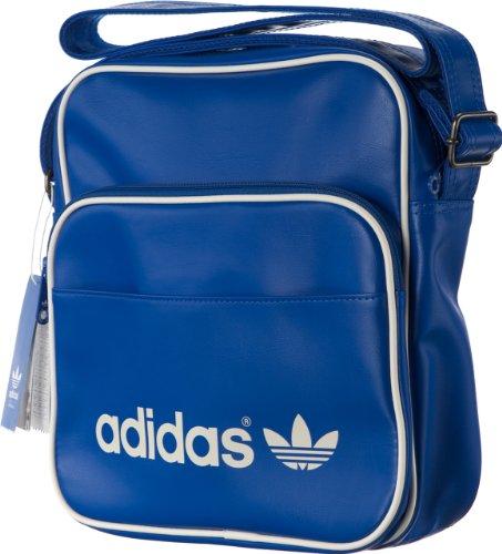 adidas Herren Tasche Adicolor Sir Bag, Blau/Weiß, 11 x 30 x 28 cm, G84857