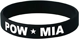 Mitchell Proffitt POW/MIA on Black Silicone Wrist Bracelet