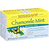 Bigelow Chamomile Mint Herbal Tea Bags, 20 Count Box (Pack of 6), Caffeine Free Herbal Tea, 120 Tea Bags Total