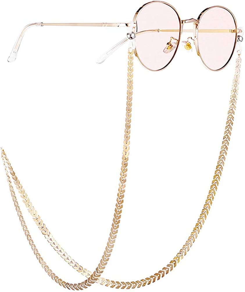 FENICAL Metal eyeglass chain spectacles sunglasses cord lanyard holder