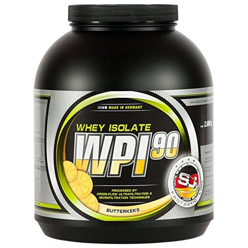 BODYBUILDING DEPOT WPI-90 Whey Isolat, 1000g Dose, Butterkeks