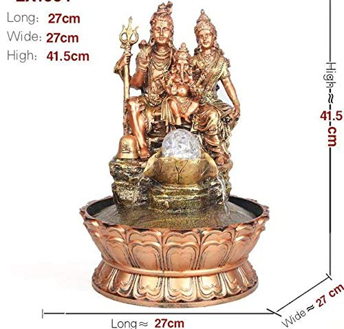 My Aashis Religious Statue Shiv Water Fountain for Home Decor