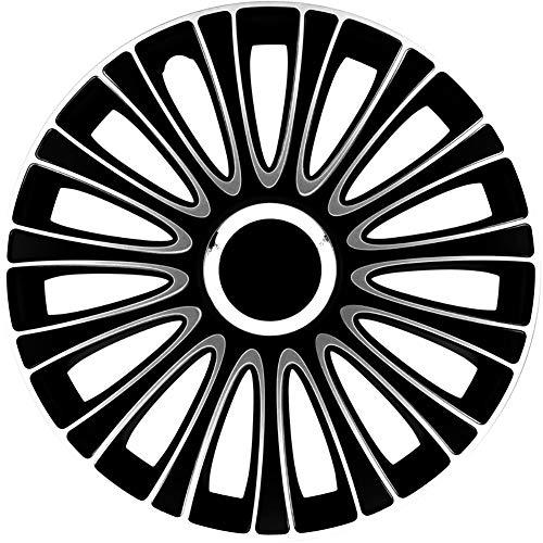 Jeu d'enjoliveurs LeMans 13-inch noir/blanc