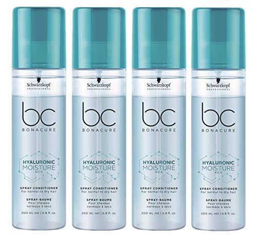 4er Moisture Kick Spray Conditioner Hyaluronic Bonacure Schwarzkopf für trockenes Haar 200 ml