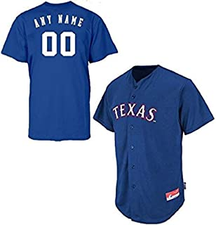 Texas Rangers Full Button Custom Adult Large Royal Blue