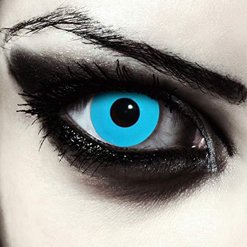 Deignlenses, Blaue farbige Kontaktlinsen für Halloween Kostüm Farblinsen Model: Blue Bigeye