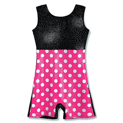 Gymnastics Leotards for Toddler Girls with Shorts 2t 3t Biketards Unitards Pink