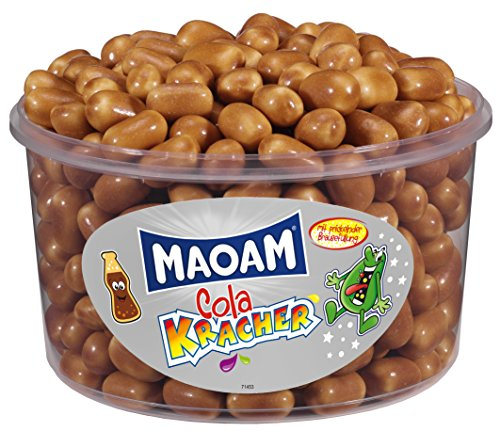 HARIBO - Maoam Cola Kracher - Kaubonbon - Dose mit 1200 Gramm