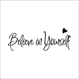 Wall Sticker Believe In Yourself Wall Sticker Decor Living Room Decals Inspirational Text Bedroom Living Room Wall Stickers