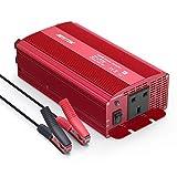 BESTEK 1000W Power Inverter DC 12V to AC Outlet 230V 240V Voltage Converter with Car Crocodile Clip for Battery