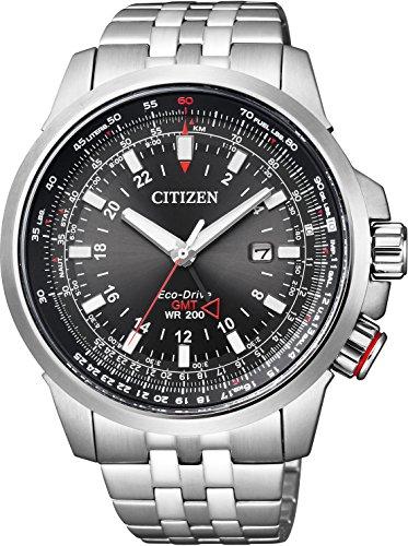 [シチズン] 腕時計 プロマスター エコ・ドライブ スカイシリーズ GMT BJ7071-54E シルバー