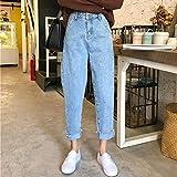 YSDSBM Jeans Mujeres Sólido fósforo Harajuku Ocio Diario Mujeres Mujer Encantador Simple Retro