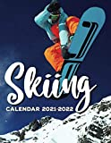 Skiing Calendar 2021-2022: Great 18-month Grid Calendar from Jan 2021 to Jun 2022 for all fans!!!