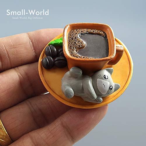 Mode Kawaii Cartoon Coco Kaffee Katze Spielzeug Micro Landschaft Figuren Fee Garten Dekorationen Miniaturen Handwerk Home Decor