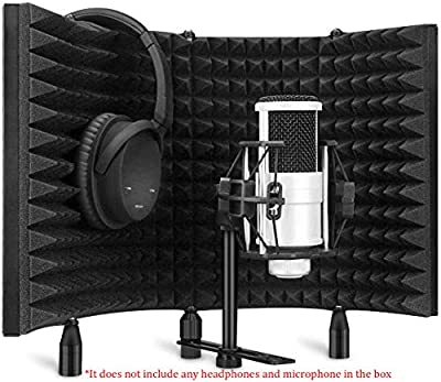 Aokeo Professional Studio Recording Microphone Isolation Shield,Pop Filter.Suitable for blue yeti and any condenser microphone recording equipment