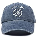 DALIX Captain Hat Sailing Baseball Cap Navy Gift Boating Men Women Blue Vintage
