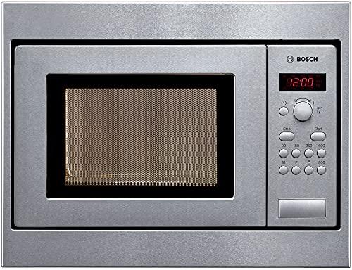 Bosch HMT75M551 Serie 2 Einbau-Mikrowelle / 800 W / 17 L / Drehteller 24,5 cm / Türanschlag Links / Edelstahl / AutoPilot 7 / automatische Leistungsstufe nach Gewicht