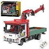 Elroy369Lion Kit de construcción de grúa Technic Engineering 2.4G y APP, mando a distancia, juguete para construcción de grúas con kit de motor, compatible con Lego Technic (1477Pcs)