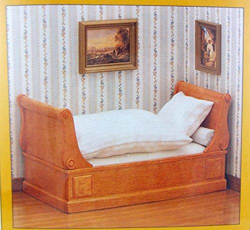 MiniMundus Biedermeier Bett für das Puppenhaus, Bausatz