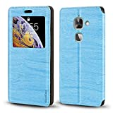 Letv LeEco Le 2 Case, Wood Grain Leather Case with Card