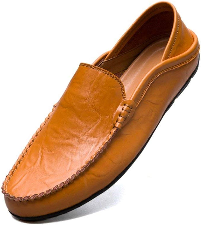 Herren Mokassins Schuhe, Mens Flache Ferse Fashion Loafer Slip-on Slip-on Freizeitschuhe Mokassins (Farbe   Yello braun, Größe   45 EU) (Farbe   Yello braun, Größe   45 EU)  große Einsparungen