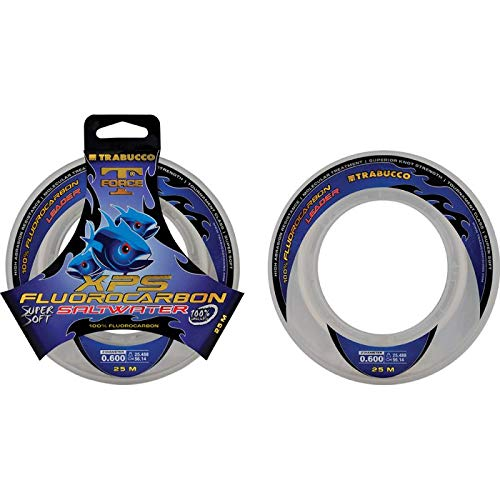 Trabucco - Hilo sedal para pesca invisible fluorocarbono t force saltwater xps 0,22 50m 4,413 9,72 kg