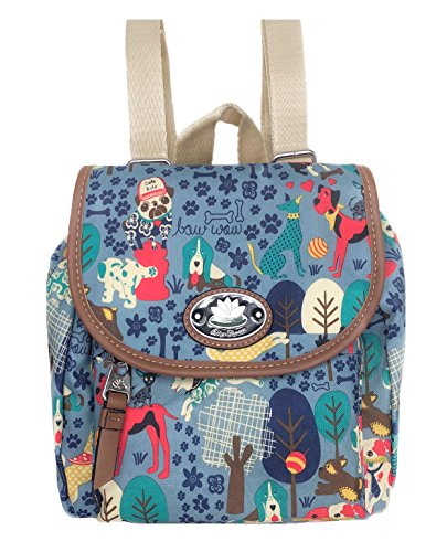 Lily Bloom Mini Backpack Colorful, Eco Friendly (Who Let The Dogs Out)