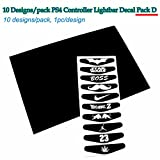 10 pcs/lot LED Light Bar Cover Decal Sticker for Sony PS4 Controller Station 4 Joystick Dual Shock Gamepad Sitckers D
