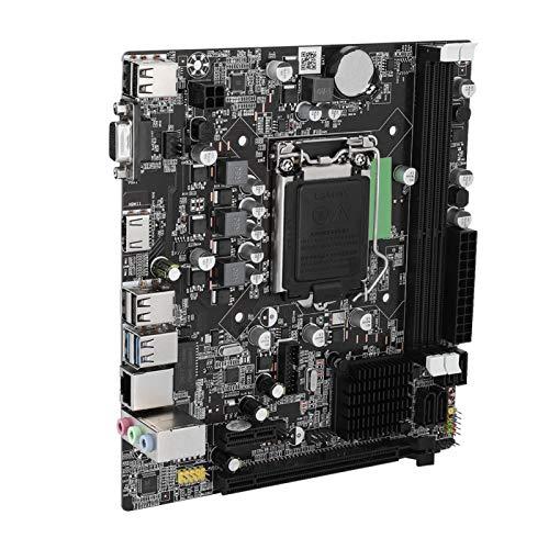 Placa Base para computadora, Placa Base LGA 1155 Dual USB2.0, Interfaz de Disco Duro de Alta Velocidad SATA3.0, Tarjeta gráfica Core HDMI de Alta definición, Memoria DDR3, Adecuada para Intel B75